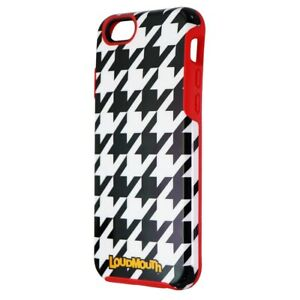 M-Edge LoudMouth Hybrid Case for Apple iPhone 6/6s - Black/White/Red Houndstooth