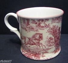 1 Romance Red Small English Fine Bone China Mug Cup By Milton China