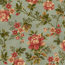 100% Cotton, Pheasant Run 8029-77 Blue Floral, Henry Glass, By the Yard