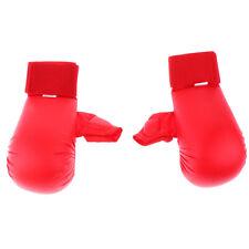 1 Pair PU Karate Sparring Mitts MMA Judo Taekwondo Padded Gloves Red L
