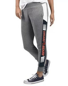NFL Chicago Bears Licensed Women's Large Fleece Tailgate Pants G-III
