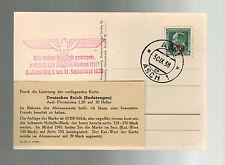 1938 Asch Germany Sudetenland Judaica Postcard Cover