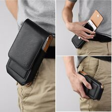 Well-Built Strong Black Leather iPhone 6s Pouch W/ Card Pockets And Belt Clip