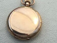 Excellent Swiss Gold Plated Hunter Pocket Watch, With A Dennison Case