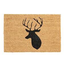 Non Slip Natural Coir Welcome Indoor Outdoor Door Mats Doormats Home 60cm Stag