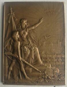 Plaquette Medaille  Union des Sociétés de Tir France   XIXéme  DUPRE