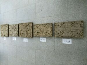 Baroque ornaments from the 17th century. Wood carving. Antique door panels