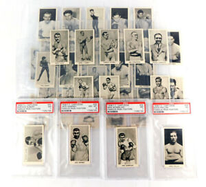 1938 Cartledge Razors Famous Prize Fighters Set (50) and 4-Cards PSA Graded