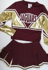"Adult XL JAGUARS Competition Cheerleader Uniform Outfit Costume 40"" Top 36 Skirt"