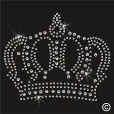 Crown Rhinestone Diamante Transfer Iron On Hotfix Gem Crystal Motif Applique