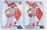 2019 Panini Prizm Mosaic Basketball DeAndre Hunter Rookie RC NBA Debut Lot of 2