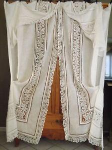 belle paire de grands rideaux anciens
