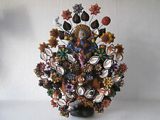 TREE OF LIFE hand made mexican folk art clay pottery mexico handmade