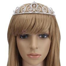 Pretty Bridal Princess Girl's Flower Crystal Tiara Wedding Party Crown Silver US