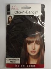 Mia Clip-n-Bangs Instant Bangs, Dark Brown