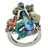 Kirks Folly DREAMY MERMAID RING SIZE 8  silvertone