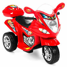 Kids Ride On Motorcycle 6V Toy Battery Powered Electric 3 Wheel Bicycle Red