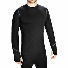 MEN'S TERRAMAR CLIMASENSE 2.0 THERMOLATER TR CREW NECK SHIRT (BLACK) SMALL