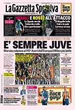 GAZZETTA 22/05/2016 JUVENTUS VS MILAN 1-0 d.t.s  WINNER COPPA ITALIA 2016 JUVE
