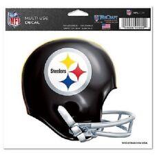 "Pittsburgh Steelers Retro Helmet 5"" x 6"" Ultra Decal Static Cling Car Window"