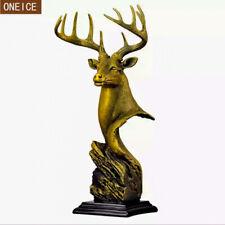 Nordic deer head sculpture resin domineering statue animal home decoration