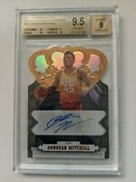 Donovan Mitchell 2017-18 Crown Royale RC Auto 134/199 BGS 9.5 INVESTMENT!!!
