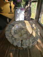 "Vintage Large JADE / Marble Granite? RUSTIC Ashtray 10"" See pics of buttom Jade"