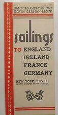 Steamship: Hamburg-American Line / North German Lloyd 1935 Brochure Schedules