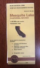 USGS BLM Topographic Map 1988 Mesquite Lake California Nevada