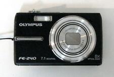 Olympus FE-240 7.1MP Digital Compact Camera Video Movie Black VERY GOOD - TESTED