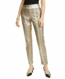 NWT Alfani Metallic Python Foil Snakeskin Print Slim Leg Pants Select Size