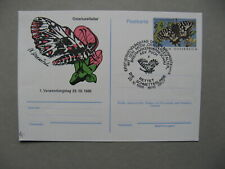AUSTRIA, privat ill. PC FDC CTO 1986, insect butterfly
