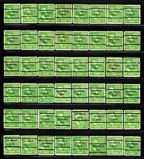LOS ANGELES, CA Bureau Precancel #804-71 George Washington Stamps Lot of 48