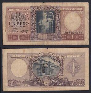 Argentina 1 peso 1951 (52) BB-/VF-  B-06