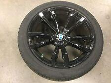"BMW X5/X6 OEM FACTORY STYLE 469M BLACK FINISH 20"" WHEEL/TIRE/TPMS/CENTER CAP SET"