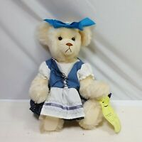 Owassa Bear Ana Plush Jointed Jenny Kranz 1990 Blue Dress Apron #31 of 300