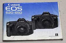 CANON EOS 620 650 Original Camera Guide Manual Instruction Photography Book