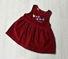 Vintage Osh Kosh Baby B'Gosh Red Corduroy Embroidered Floral 18 Months USA