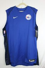 NWT NIKE PHILADELPHIA 76ers DriFit Mens Sleevless Shooter Training Shirt 2XL-T