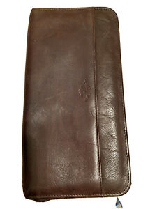 Boulder Ridge Travel Wallet Brown Leather