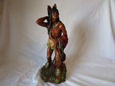 Warrior Native American Indian Statue Universal Statuary Corp 1976 Statue Figure