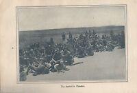 "Original 1917 Anzac Print  - Antique Vintage ""The arrival in Flanders"""