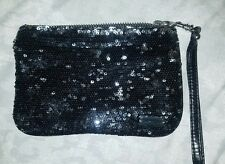 Black sparkle express clutch, in good condition