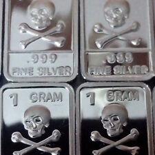 Lot of 10 Rare Atlantis Pirate Treasure Pure Silver Skull Crossbones Jolly Roger