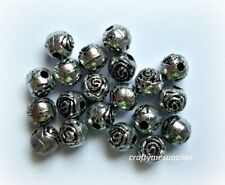 Tibetan Silver Rose Spacer, Antiqued Silver Jewelry Findings, 5mm, 20pcs