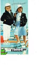 PUBLICITE ADVERTISING 064  1979  RAINETT    vetements enfants