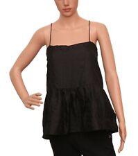Isabel Marant Women's Casual Black Soie Silk Spaghetti Blouse Tunic Top S 34