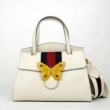 c368f64261 Nuova inserzione Gucci Avorio pelle Butterfly Totem Medio Top Impugnatura  Borsa 505344 9674