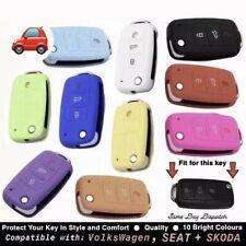 Silicone Car Key Cover Case Fits VW MK4 MK5 MK6, Skoda and SEAT etc - QUALITY
