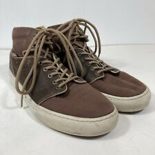 Vans OTW Collection Alomar Brown Leather & Canvas High Top Sneakers Size 7